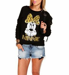 Black Minnie Mouse Sweater