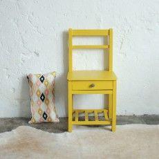 Chevet chaise d'internat vintage - atelierdupetitparc.fr