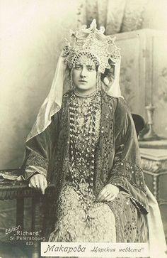 1900s Miss Makarova as The Tsar's Bride (Rimsky-Korsakov).