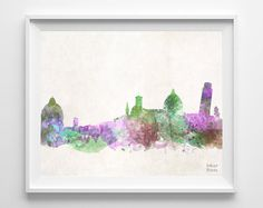 Pisa Skyline Italy Watercolor Poster Italian Print by InkistPrints, $11.95 - Shipping Worldwide! [Click Photo for Details]