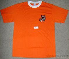Adult Leader Tiger Cub T Shirt Boy Scout New Orange Short Sleeve Cotton Blend
