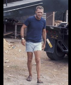 Steve McQueen on set [WireImage]
