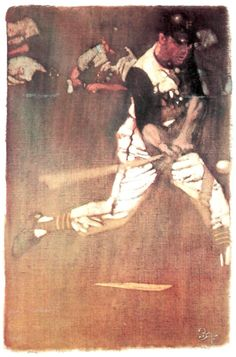 Dick Groat, Pittsburgh Pirates. Painting by Bernie Fuchs, 1979.