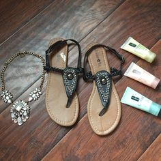 NWOTBrand New Sandals Black Brand New Sandals. Perfect for summer outings. Beauty Max Shoes Sandals