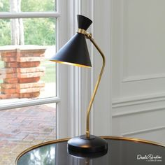 THE WELL APPOINTED HOUSE - Luxuries for the Home - THE WELL APPOINTED HOME Bronze and Brass Cone Desk Lamp