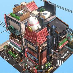 Littlest Tokyo, Glen Fox on ArtStation at https://www.artstation.com/artwork/AJGbV