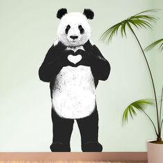 Standing Panda Wall Sticker Decal Cut Out All by MyWallStickers