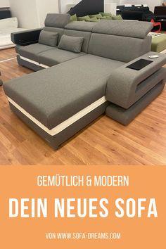 Das Stoff Sofa grau von Sofa-Dreams ist modern