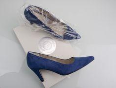 #zapatos tipo #salon #ante #azul #suede #blue #shoes #original #handmade #madeinspain #schuhe #scarpe #chaussures