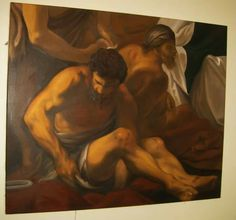Baroque copy - oil painting on canvas 100 x150 cm