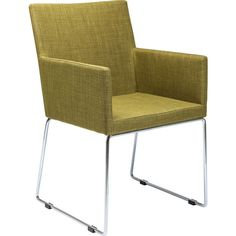 Chair with Armrest Dr House Green - KARE Design