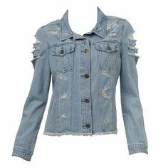 Distressed Denim Jacket #sportsgirl