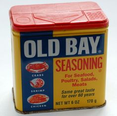 Old Bay...the BEST crab and shrimp boil seasoning in the world...ask anyone on the chesapeake!