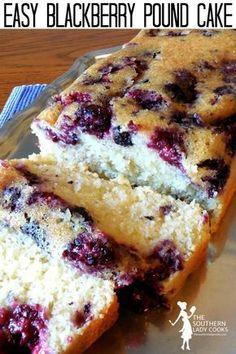 Blackberry Recipes Easy, Fruit Recipes, Blackberry Cake, Baking Recipes, Blackberry Recipes Breakfast, Black Berry Recipes, Blueberry Pound Cake, Blackberry Syrup, Milkshakes