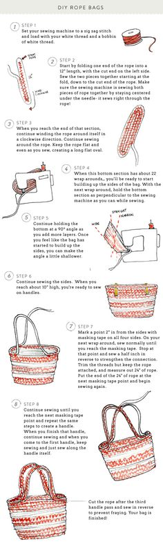 diy rope bag--Design & Styling: Style Me Pretty Living - www.smpliving.com