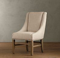 Nailhead Upholstered Chair - traditional - dining chairs and benches - Restoration Hardware