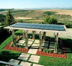 Solar Paneled Pergolas!