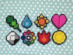Badges d'arène Pokemon chef inspiré Perler Bead par PorcupineSpines
