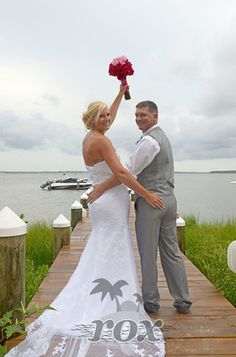 Sunset Wedding At The Princess Bayside Hotel In Ocean City MD By Rox Beach Weddings