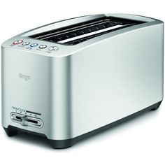 Sage by Heston Blumenthal BTA830UK Smart Toaster 4 Slice (Large Slots) ($165) ❤ liked on Polyvore featuring home, kitchen & dining, small appliances, compact toaster, four slice toaster, 4 slot toaster, bread toaster and colored toasters