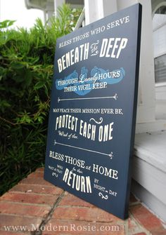 Submariners Hymn Hand Painted Wooden Sign by ModernRosie on Etsy, $145.00