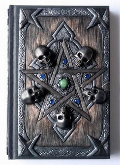 Spell Book larger A5 polymer clay journal fantasy witch