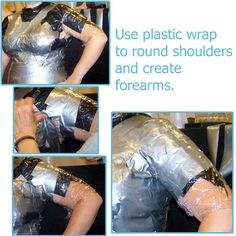 Duct Tape Dummy - Duct Tape Dummy Tutorial: Tape the Shoulders and Arms