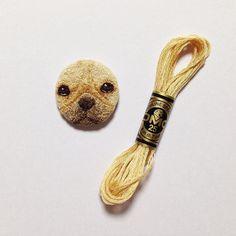 1O6 / 5O1  French Bulldog  そんな目で見られたら.. #frenchbulldog #handembroidery #embroidery #5O1embroidery #dmc#frenchknot #フレンチブルドッグ#刺繍#手刺繍#フレンチノット by ipnot
