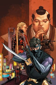 Ninjak #1 cover by Clay Mann
