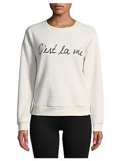 Marc New York Performance Diamond-Stitch Graphic Sweatshirt