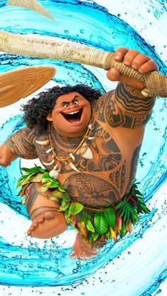 GBP - Moana Maui Demigod Birthday Card Personalised With Any Wording & Garden Movie Wallpapers, Cute Cartoon Wallpapers, Maui Demigod, Moana Y Maui, Arte Do Hulk, Moana Poster, Maui Tattoo, Best Beaches In Maui, Free Poster Printables