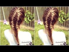 How to Braid: DIY French Fishtail Braid | French Fishtail Braid for beginners - YouTube