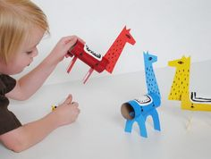 1 homemade reindeer craft http://hative.com/homemade-animal-toilet-paper-roll-crafts/