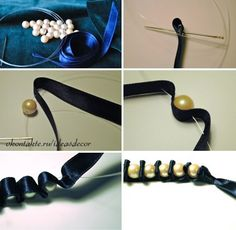 Pulsera con perlas paso a paso 1