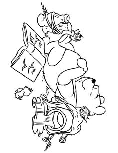winnie_the_pooh_sleeping_with_birds_coloring_page