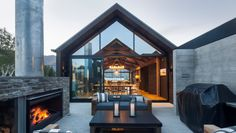 Image result for outdoor fireplace schist nz