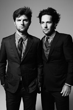 paul rudd and adam scott, photographed for black book magazine by dan monick