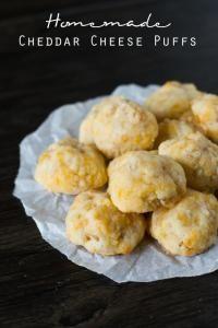 Homemade Cheddar Cheese Puffs