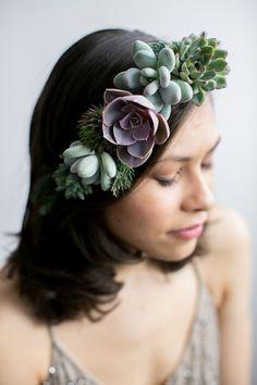 Flower crown Floral crown real succulent crown living