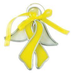 Yellow Childhood Cancer Ribbon