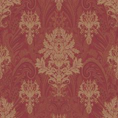 Find wallpaper close-out sale pricing for popular wallpaper patterns online courtesy of Wallpaper Warehouse. Paisley Wallpaper, Luxury Wallpaper, Of Wallpaper, Pattern Wallpaper, Gold Wall Decor, Gold Wall Art, Gold Home Decor, Wallpaper Fireplace, Discount Wallpaper