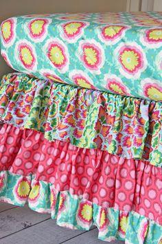 Pink Paradise Bumper-Less Crib Bedding by Caden Lane