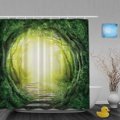 Natural Landscape Bathroom Shower Curtains Forest Road Shower Curtain Waterproof Polyester Fabric Bathroom Shower Curtain Hooks -  Cheap Product is Available. This shopping online sellers give you the discount of finest and low cost which integrated super save shipping for Natural Landscape Bathroom Shower Curtains Forest Road Shower Curtain Waterproof Polyester Fabric Bathroom Shower Curtain Hooks or any product.  I hope you are very lucky To be Get Natural Landscape Bathroom Shower…