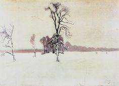 Julian Fałat (1853-1929), Paysage Hivernal - 1891