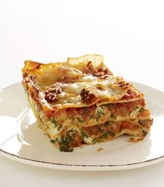Three-Cheese Lasagna with Italian Sausage (four-forks with almost 600 reviews on epicurious)