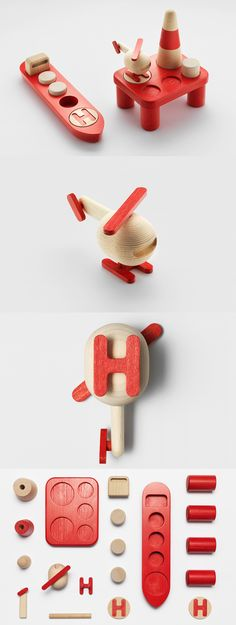 'Offshore': wooden toy set by Permafrost, originally presented during the London Design Festival in 2013