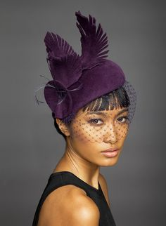 Lock & Co Hatters, Couture Millinery A/W 2014 - Betty. Love the felt feathers here.