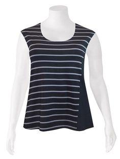 Weyre - spliced relaxed shell TOWANDA womenswear - plus size designer fashion boutique women's clothes shop.