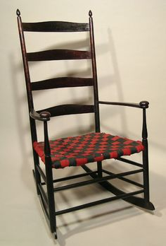 Shaker Dark Ladder Back Rocking Chair