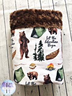 Camp Minky Baby Blanket All Minky Adventure Mountain Blanket Baby Toddler Blanket Adult Blanket Twin Blanket - Baby Boy Easy Baby Blanket, Toddler Blanket, Minky Baby Blanket, Toddler Bed, Cute Blankets, Baby Boy Blankets, Baby Boy Rooms, Baby Boy Nurseries, Everything Baby